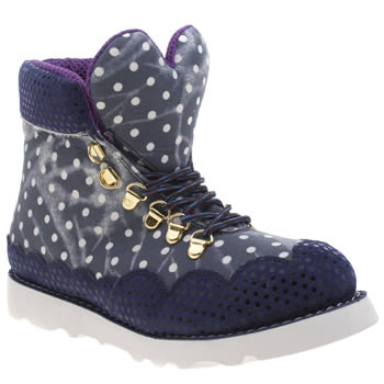Iced By Irregular Choice Navy & White Heart Of Gold Trainers