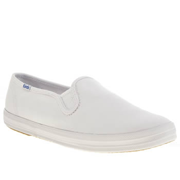 Keds White Champion Slip On Trainers