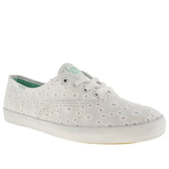 womens keds white champion lace v trainers
