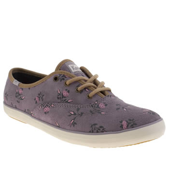 Womens Keds Lilac Champion Lace V Trainers