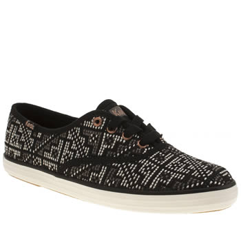 Keds Black & White Champion Needlepoint Trainers