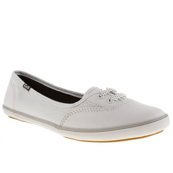 womens keds white & black teacup trainers