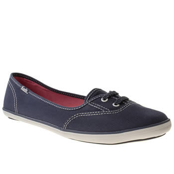 Womens Keds Navy & White Teacup Trainers
