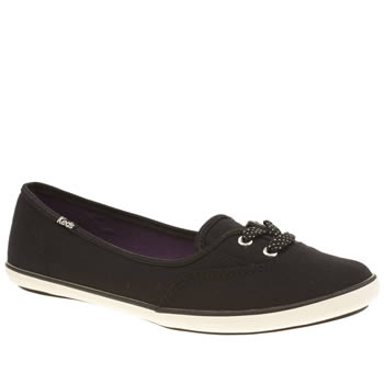 Keds Black & White Teacup Trainers