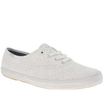 Keds White Champion Eyelet Canvas Trainers