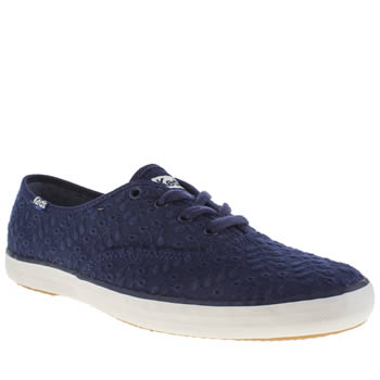 Keds Navy Champion Eyelet Canvas Trainers