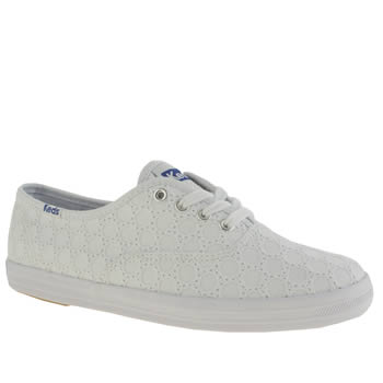Keds White Champion Eyelet Trainers