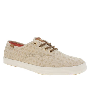Womens Keds Natural Champion Diamond Dot Trainers