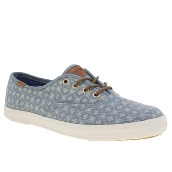 Womens Keds Blue Champion Trainers