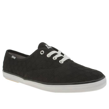 Womens Keds Black & White Champion Trainers