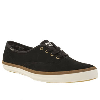 Keds Black Champion Suede Trainers