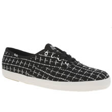 Keds Black & White Champion Metallic Boucle Trainers