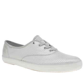 Keds Silver Champion Shimmer Dot Womens Trainers