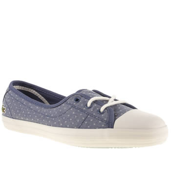 Womens Lacoste Navy & White Ziane Chunky Trainers