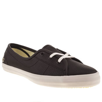 Womens Lacoste Black & White Ziane Chunky Trainers
