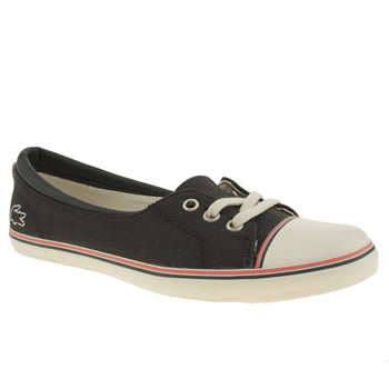 womens lacoste navy & white rohini trainers
