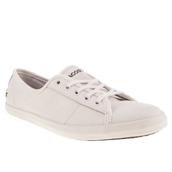 Womens Lacoste White Ziane Leather V Trainers