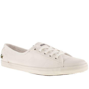 womens lacoste white ziane v trainers