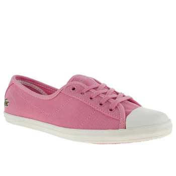 womens lacoste pink ziane v trainers