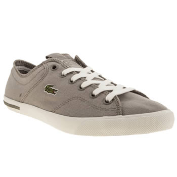 Womens Lacoste Grey Ramer Canvas Trainers