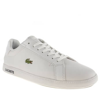 womens lacoste white graduate trainers