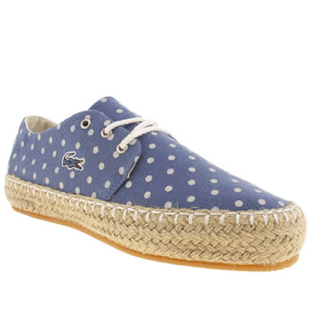 womens lacoste navy & white agour trainers