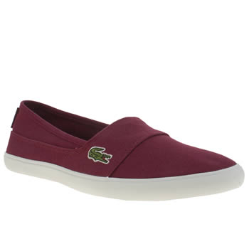 Womens Lacoste Burgundy Marice Trainers