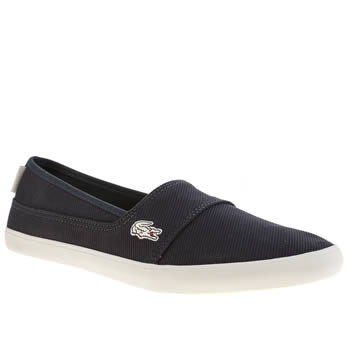 Womens Lacoste Navy & White Marice Trainers