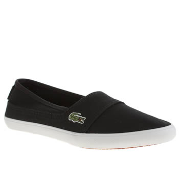 Womens Lacoste Black & White Marice Trainers