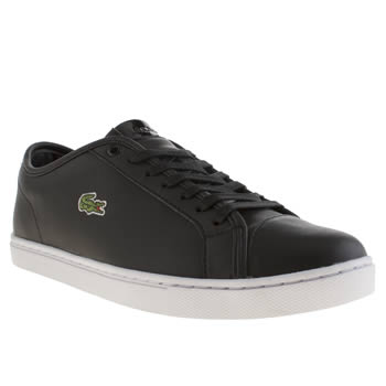 Womens Lacoste Black & White Showcourt Trainers