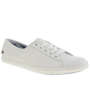 Womens Lacoste White Ziane Trainers