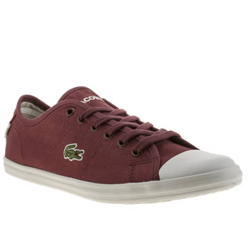 Womens Lacoste Burgundy Ziane Trainers