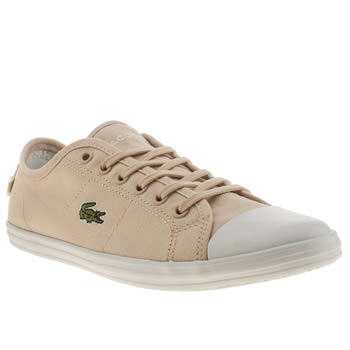 Womens Lacoste Pale Pink Ziane Trainers