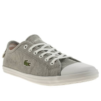 Womens Lacoste Light Grey Ziane Trainers