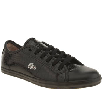 Womens Lacoste Black Ziane Trainers