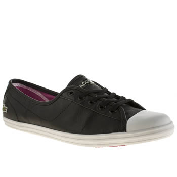 Lacoste Black & White Ziane Trainers