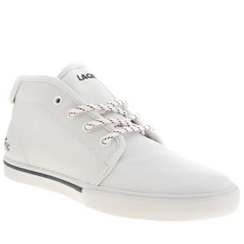 Lacoste White & Black Ampthill Trainers