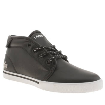 Lacoste Black & White Ampthill Trainers