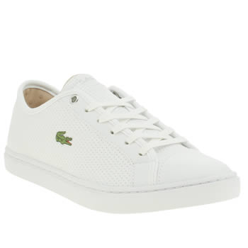Womens Lacoste White Showcourt Piq Trainers