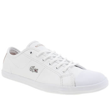 Womens Lacoste White Ziane Sneaker Edge Trainers