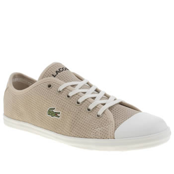 Womens Lacoste Natural Ziane Sneaker Trainers