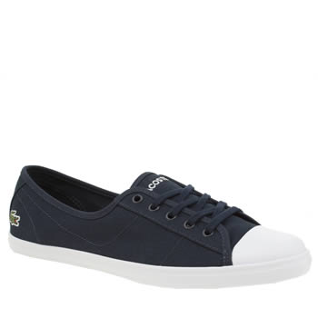 Lacoste Navy & White Ziane Womens Trainers