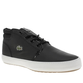 Womens Lacoste Black & White Ampthill Terra Trainers