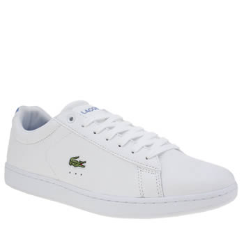 Womens Lacoste White & Pl Blue Carnaby Trainers