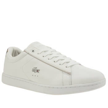 Lacoste White & Silver Carnaby Womens Trainers
