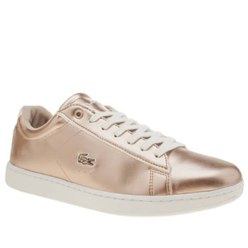 Lacoste Rose Gold Carnaby Trainers