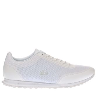 LACOSTE WHITE HELAINE RUNNER TRAINERS