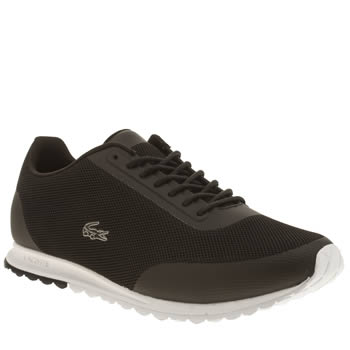Lacoste Black & White Helaine Runner Trainers