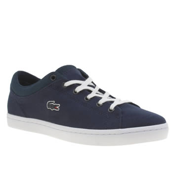 Lacoste Navy & White Straightset Trainers
