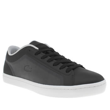 Lacoste Black & White Straightset Womens Trainers